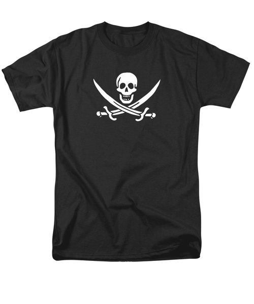 Pirate Flag Jolly Roger Of Calico Jack Rackham Tee Men's T-Shirt  (Regular Fit) by Edward Fielding
