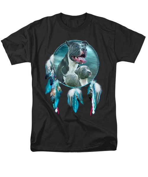 Pit Bulls - Rez Dog Men's T-Shirt  (Regular Fit) by Carol Cavalaris