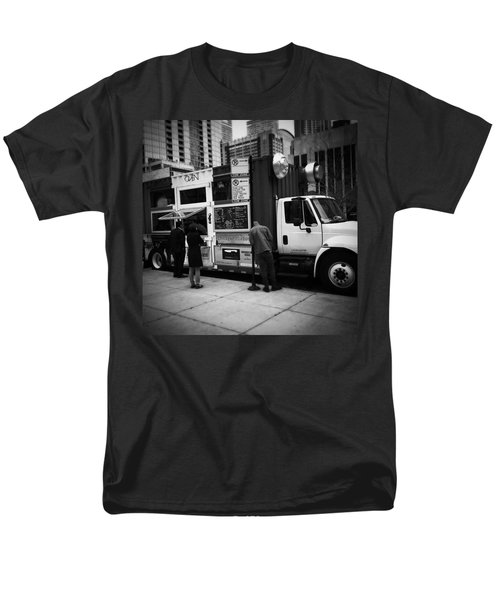 Pizza Oven Truck - Chicago - Monochrome Men's T-Shirt  (Regular Fit) by Frank J Casella