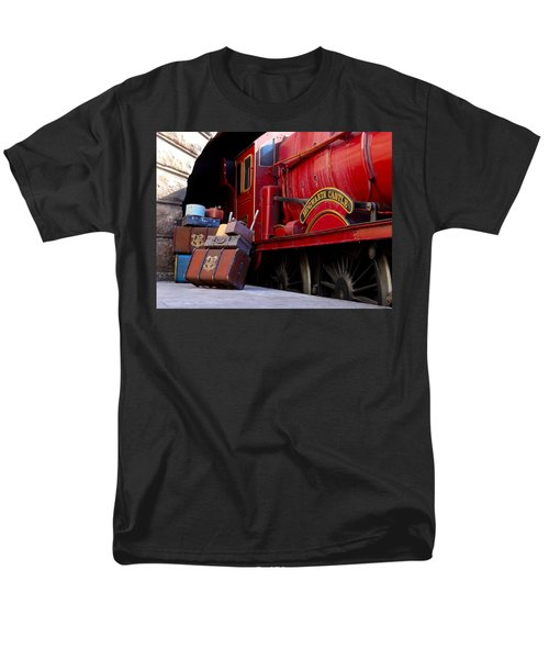 Men's T-Shirt  (Regular Fit) featuring the photograph Platform Nine And Three Quarters by Julia Wilcox