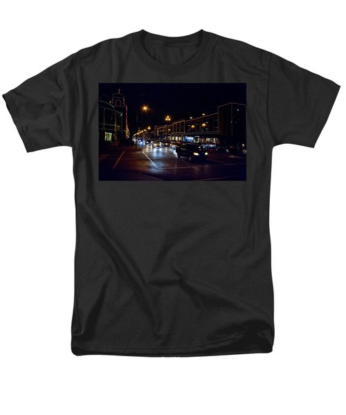 Plaza Lights Men's T-Shirt  (Regular Fit) by Jim Mathis