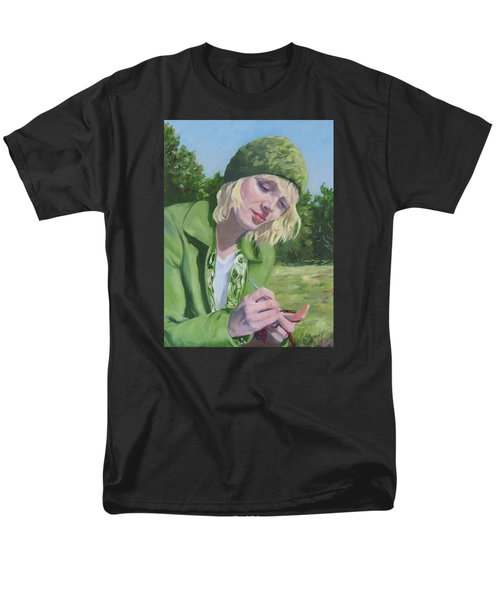 Plein Air Crocheting Men's T-Shirt  (Regular Fit) by Connie Schaertl