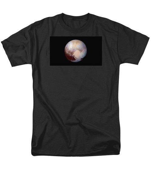 Pluto Dazzles In False Color Men's T-Shirt  (Regular Fit) by Nasa