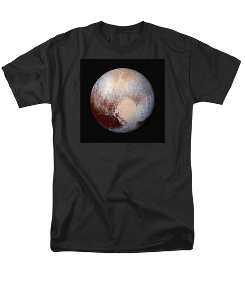 Pluto Dazzles In False Color - Square Crop Men's T-Shirt  (Regular Fit) by Nasa
