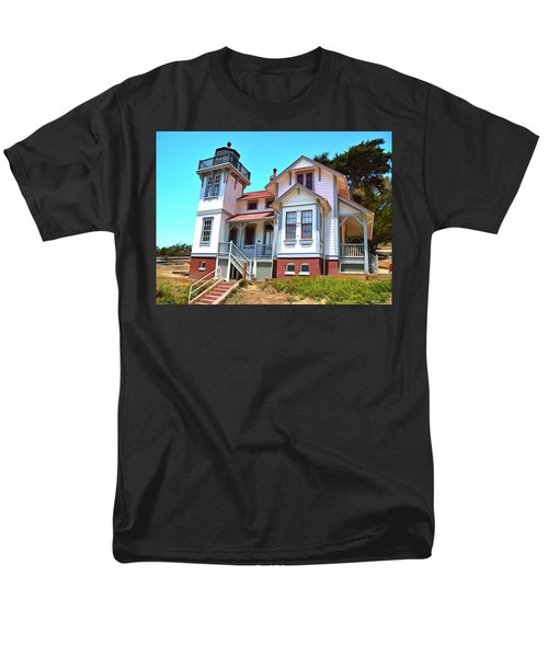 Men's T-Shirt  (Regular Fit) featuring the photograph Point San Luis Lighthouse by Floyd Snyder
