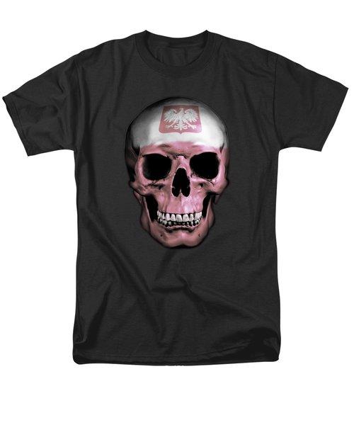 Men's T-Shirt  (Regular Fit) featuring the digital art Polish Skull by Nicklas Gustafsson