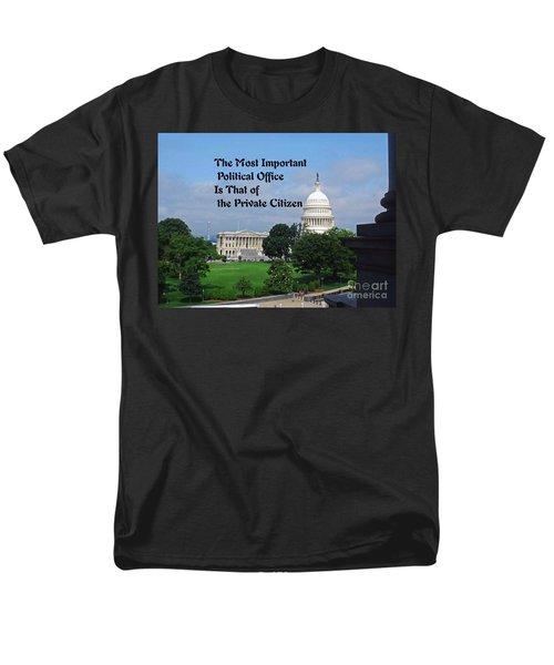 Men's T-Shirt  (Regular Fit) featuring the photograph Political Statement by Gary Wonning