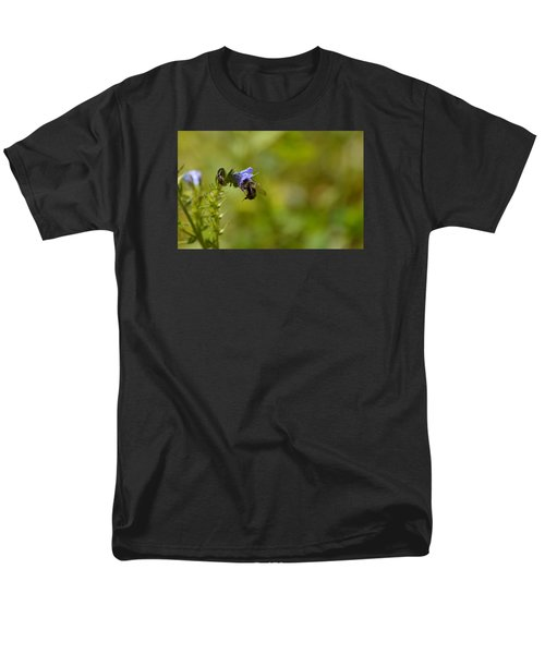 Men's T-Shirt  (Regular Fit) featuring the photograph Pollinating  Bee  by Lyle Crump