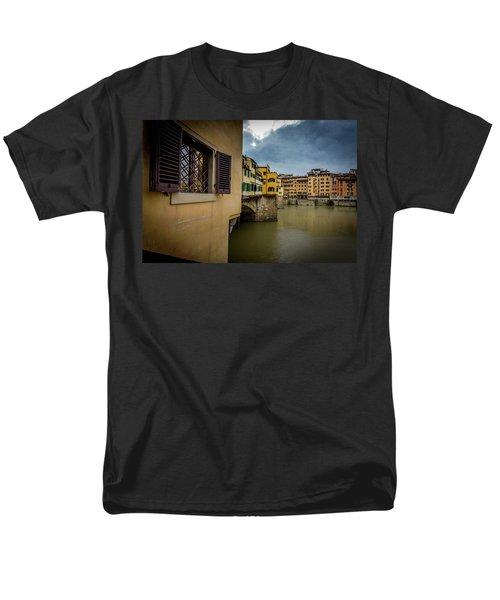 Ponte Vecchio Men's T-Shirt  (Regular Fit) by Sonny Marcyan