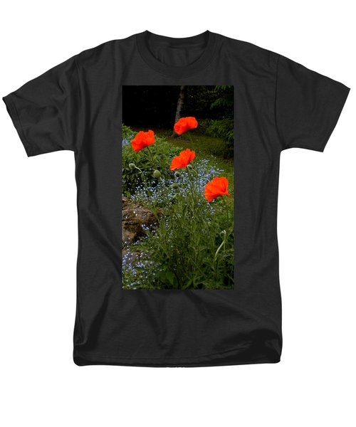 Poppy Foursome Men's T-Shirt  (Regular Fit) by Renate Nadi Wesley