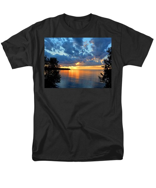Porcupine Mountains Sunset Men's T-Shirt  (Regular Fit) by Keith Stokes