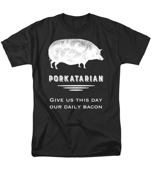 Porkatarian Give Us Our Bacon Men's T-Shirt  (Regular Fit) by Antique Images
