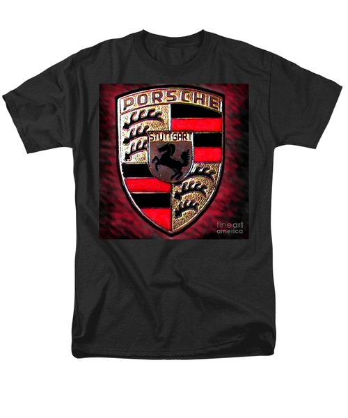 Porsche Emblem Men's T-Shirt  (Regular Fit) by George Pedro