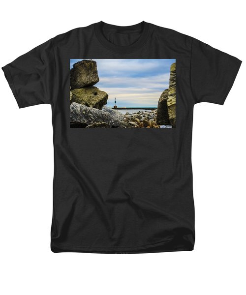 Men's T-Shirt  (Regular Fit) featuring the photograph Port Washington Light 4 by Deborah Smolinske