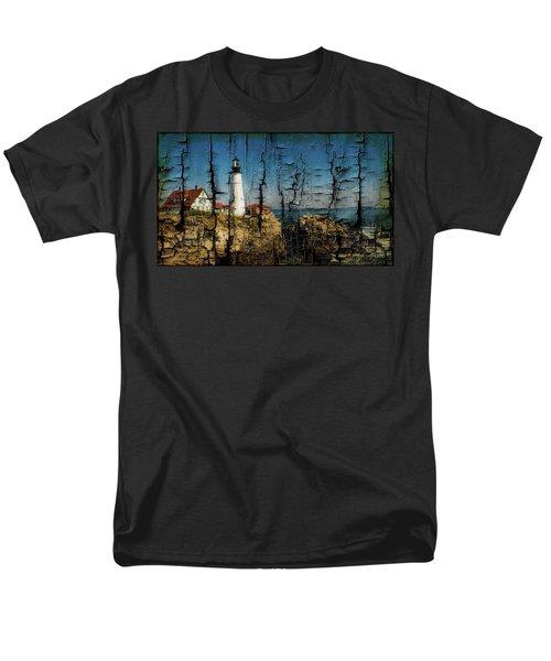 Portland Head Lighthouse 5 Men's T-Shirt  (Regular Fit) by Sherman Perry