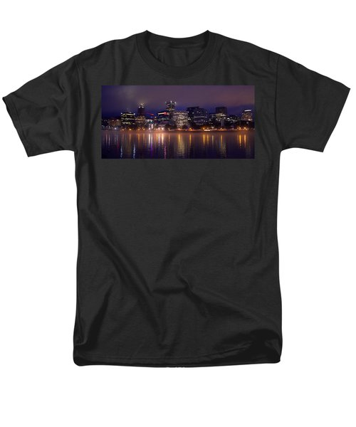 Portland Night Skyline Men's T-Shirt  (Regular Fit) by Joseph Skompski