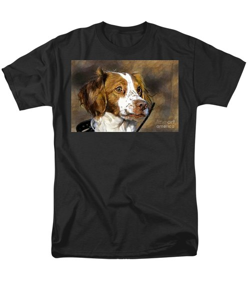 Men's T-Shirt  (Regular Fit) featuring the photograph Portrait Of A Brittany - D009983-a by Daniel Dempster