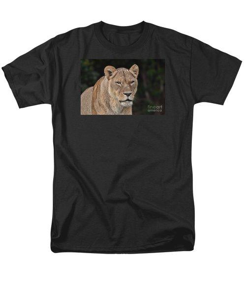Portrait Of A Lioness II Men's T-Shirt  (Regular Fit) by Jim Fitzpatrick