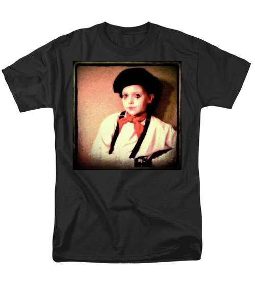 Portrait Of A Young Mime Men's T-Shirt  (Regular Fit)