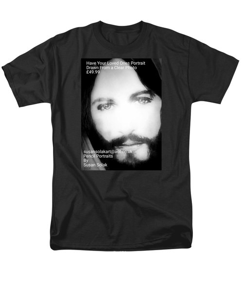 Men's T-Shirt  (Regular Fit) featuring the painting Portraits by Susan  Solak