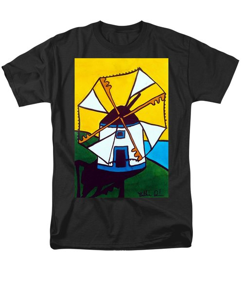 Portuguese Singing Windmill By Dora Hathazi Mendes Men's T-Shirt  (Regular Fit)