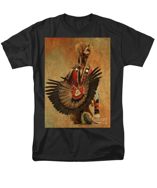 Men's T-Shirt  (Regular Fit) featuring the mixed media Pow Wow 2 by Jim  Hatch