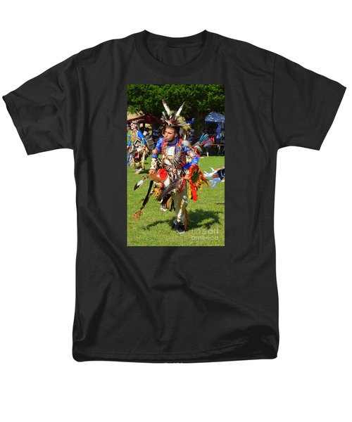 Pow Wow Warrior Men's T-Shirt  (Regular Fit) by Lew Davis