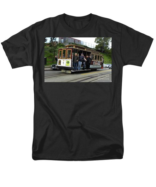 Men's T-Shirt  (Regular Fit) featuring the photograph Powell And Market Street Trolley by Steven Spak