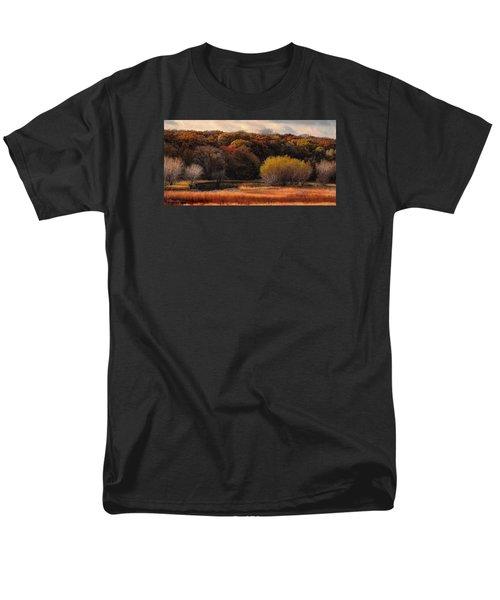 Prairie Autumn Stream Men's T-Shirt  (Regular Fit) by Bruce Morrison