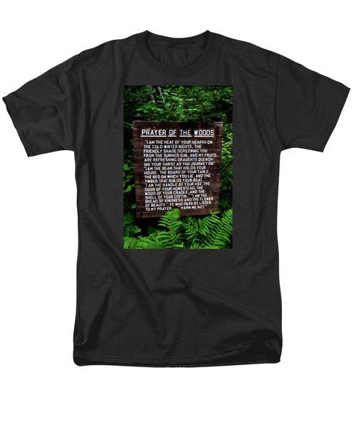 Prayer Of The Woods Men's T-Shirt  (Regular Fit) by Michelle Calkins