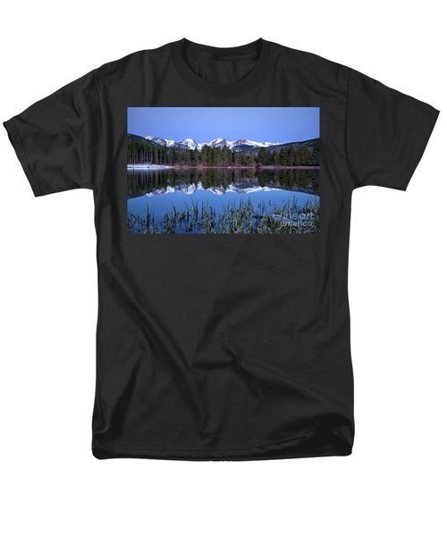 Pre Dawn Image Of The Continental Divide And A Sprague Lake Refl Men's T-Shirt  (Regular Fit) by Ronda Kimbrow