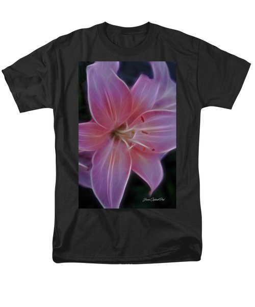 Precious Pink Lily Men's T-Shirt  (Regular Fit) by Joann Copeland-Paul