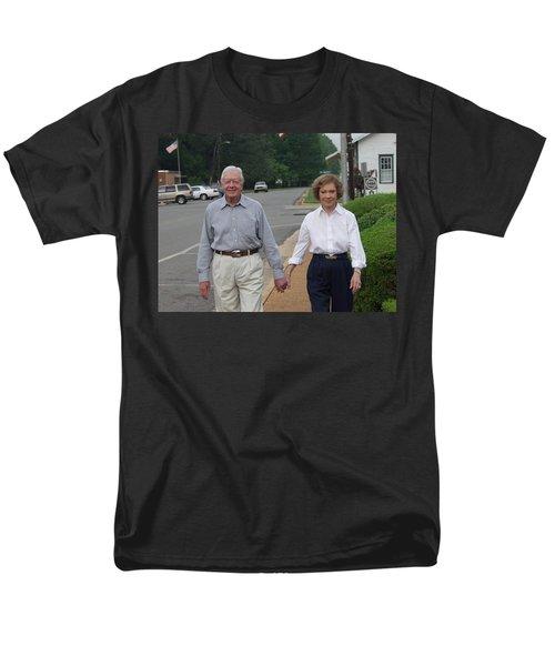 President And Mrs. Jimmy Carter Men's T-Shirt  (Regular Fit) by Jerry Battle