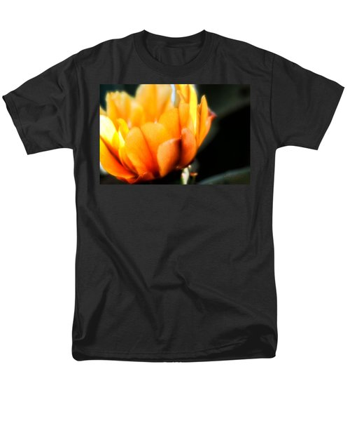 Men's T-Shirt  (Regular Fit) featuring the photograph Prickly Pear Flower by Lynn Geoffroy