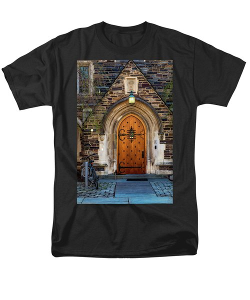 Men's T-Shirt  (Regular Fit) featuring the photograph Princeton University Henry Hall by Susan Candelario