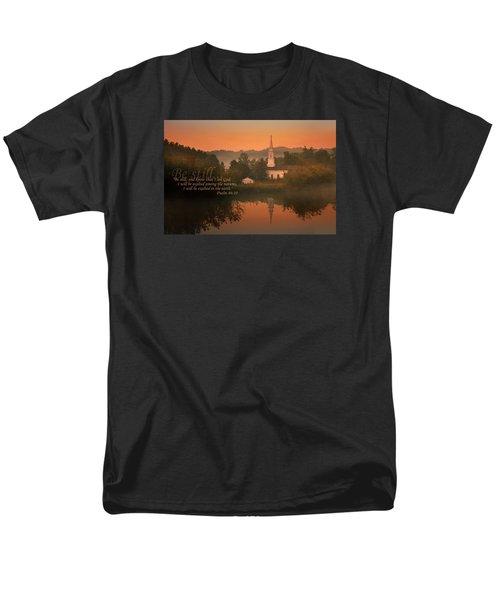 Psalm 46.10 Men's T-Shirt  (Regular Fit) by Rob Blair