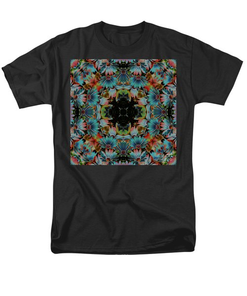 Men's T-Shirt  (Regular Fit) featuring the digital art Psychedelic Daisies by Smilin Eyes  Treasures