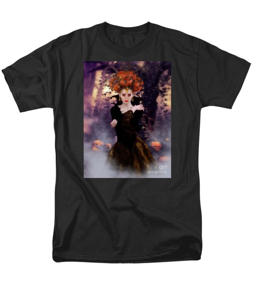 Men's T-Shirt  (Regular Fit) featuring the digital art Pumpkin Witch by Shanina Conway