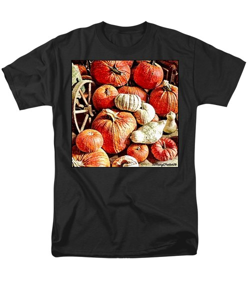 Pumpkins In The Barn Men's T-Shirt  (Regular Fit) by MaryLee Parker