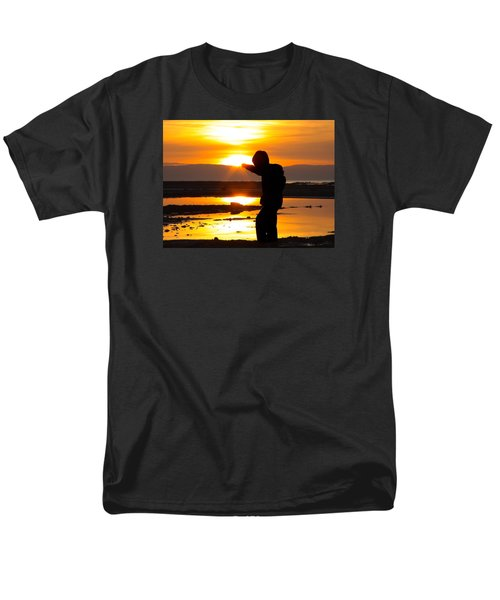 Men's T-Shirt  (Regular Fit) featuring the photograph Punching The Sun by RKAB Works