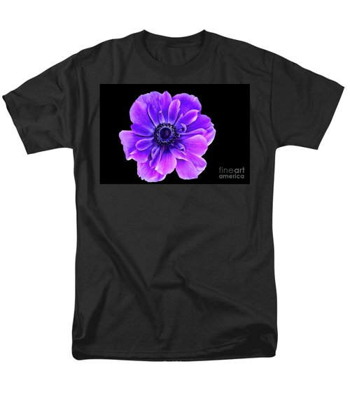 Purple Anemone Flower Men's T-Shirt  (Regular Fit) by Mariola Bitner