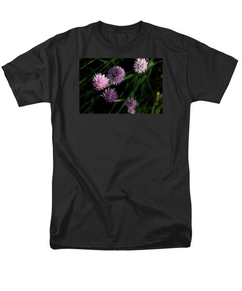 Men's T-Shirt  (Regular Fit) featuring the photograph Purple Chives by Angela Rath