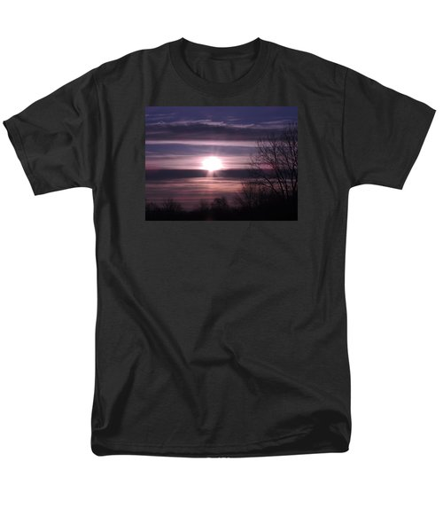 Men's T-Shirt  (Regular Fit) featuring the photograph Purple Sunrise by Teresa Schomig