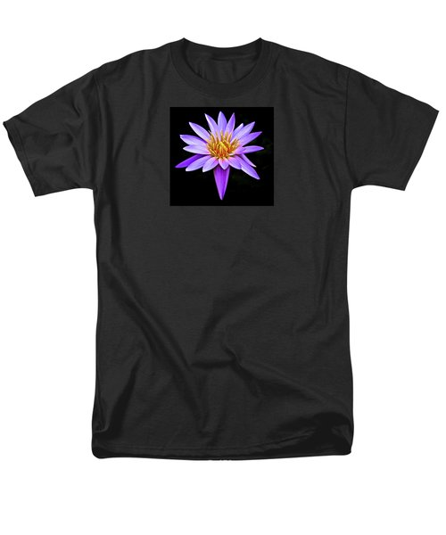 Purple Waterlily With Golden Heart Men's T-Shirt  (Regular Fit) by Venetia Featherstone-Witty