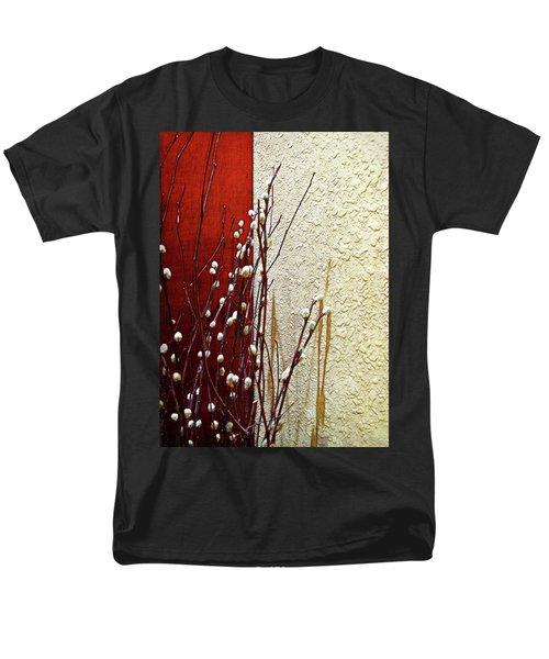 Pussy Willow Corner Men's T-Shirt  (Regular Fit) by Joan  Minchak