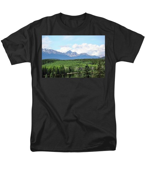 Men's T-Shirt  (Regular Fit) featuring the photograph Pyramid Island - Jasper Ab. by Ryan Crouse