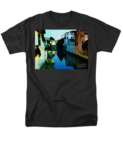 Men's T-Shirt  (Regular Fit) featuring the photograph Quaint On The Canal by Roberta Byram