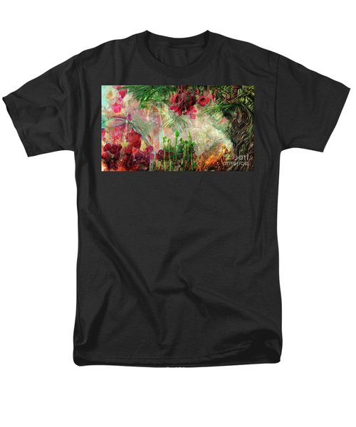 Men's T-Shirt  (Regular Fit) featuring the digital art Qualia's Jungle by Russell Kightley