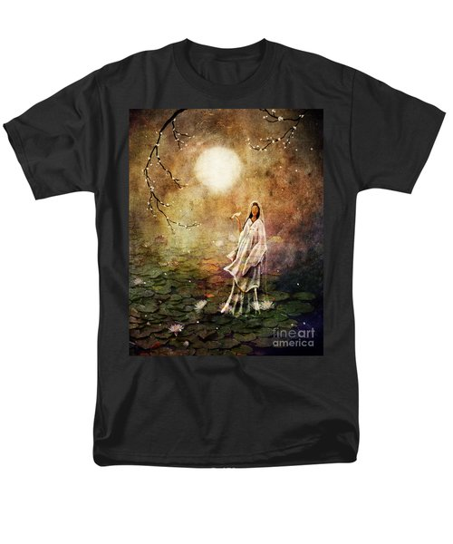 Quan Yin In A Lotus Pond Men's T-Shirt  (Regular Fit) by Laura Iverson