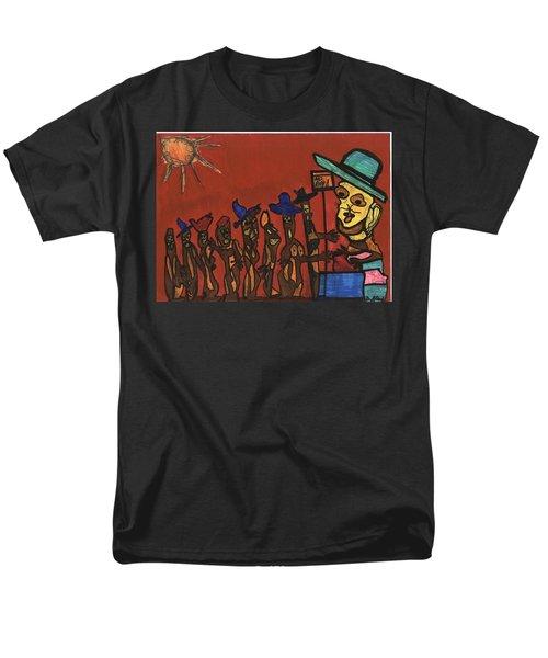 Queuing For Residuals  Men's T-Shirt  (Regular Fit) by Darrell Black